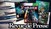 Revue de presse : Mass Effect 3, Saint Seiya, MGS3D, Wakfu