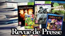 Revue de presse : Ghost Recon, Dragon's Dogma, Mario Tennis, Gravity Rush, Sorcery