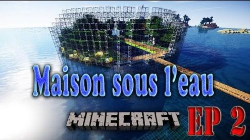minecraft la maison sous l 39 eau revient avec un jardin deneatv. Black Bedroom Furniture Sets. Home Design Ideas