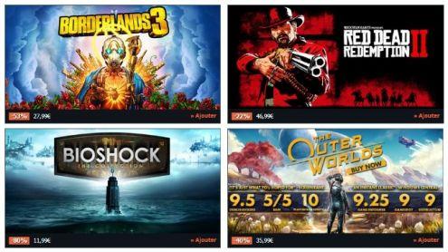 BON PLAN GAMESPLANET : Jusqu'à -80% sur les jeux PC Take-Two Interactive - Post de Gameblog Bons Plans