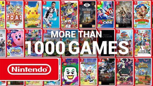 Nintendo Switch : Une vidéo pour célébrer les 1000 jeux disponibles sur la console