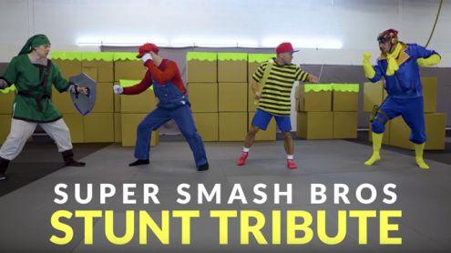 Super Smash Bros. recréé par des cascadeurs professionnels du dernier Avengers, ça donne ça