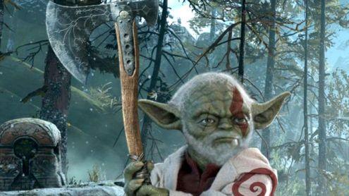 L'image du jour : Baby Yoda, dans God of War, tu es