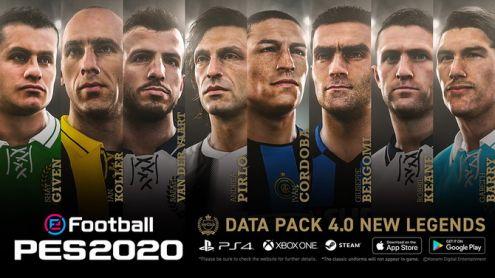 eFootball PES 2020 : Nouveaux visages, maillots, légendes, correctifs... Le Data Pack 4.0 et le patch 1.04 disponibles