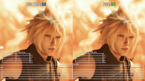 Final Fantasy 7 Remake : Les versions PS4 et PS4 Pro de la démo comparées