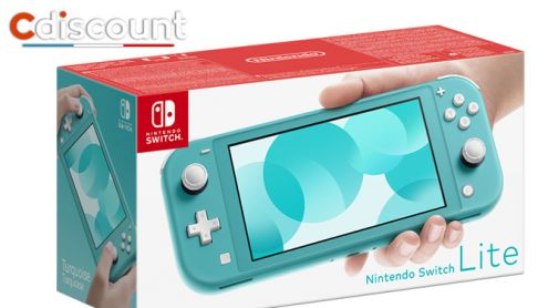 French Days Cdiscount : La Nintendo Switch Lite Turquoise à 214,99¬ seulement !