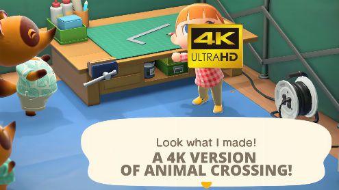 Animal Crossing New Horizons : Il imagine une version Switch Pro en 4K-60 fps, la vidéo