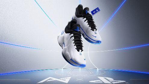 Une paire de baskets Nike PS5 en collaboration avec Paul George