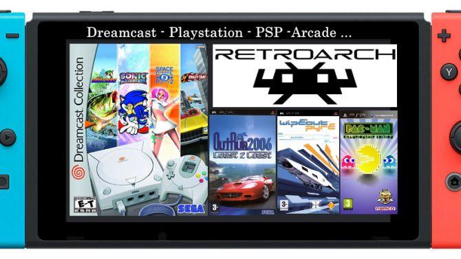 Dreamcast et Playstation Portable sur SWITCH en mode TV ou portable