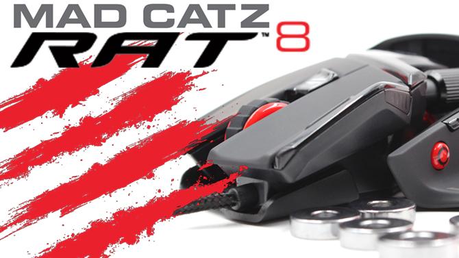 TEST de la souris Mad Catz RAT 8 : Retour aux sources