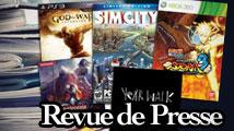 Revue de presse : SimCity, God of War, Naruto, Castlevania, Year Walk