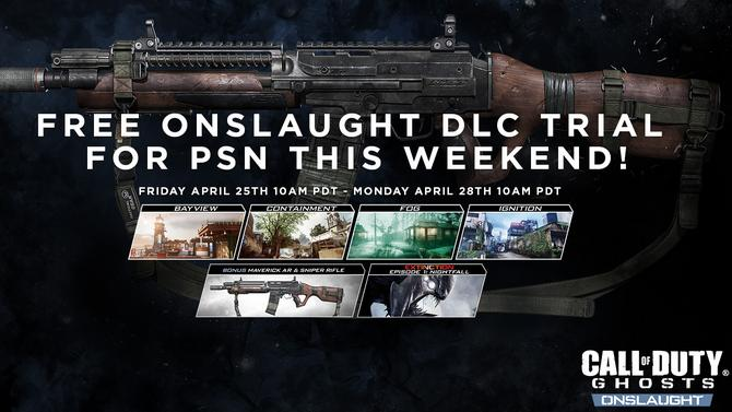 PS3, PS4 : Call of Duty Ghosts, le DLC Onslaught gratuit ce week-end
