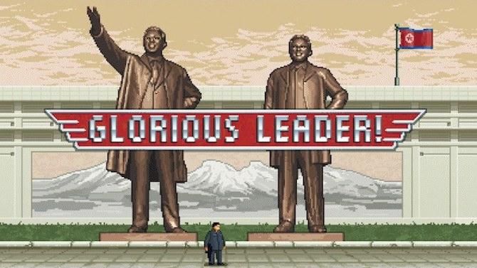 """Glorious Leader! Kim Jong Un, """"héros"""" d'un jeu vidéo anticapitaliste"""