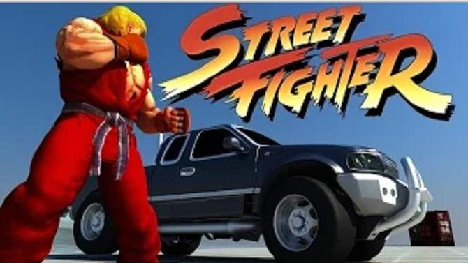 street fighter quand la voiture du bonus stage prend sa revanche. Black Bedroom Furniture Sets. Home Design Ideas