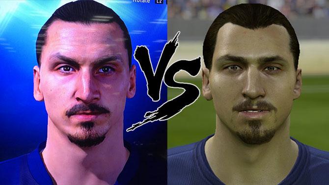 PES 2015 vs FIFA 15 : notre impressionnant comparatif de Zlatan Ibrahimovic