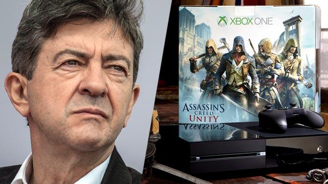 Game Cash offre une Xbox One et Assassin's Creed Unity à Jean-Luc Mélenchon