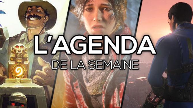 L'Agenda de la semaine : Fallout 4, Rise of the Tomb Raider, Hearthstone...