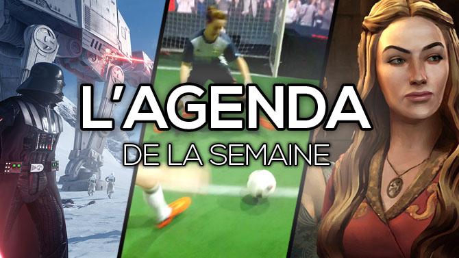 L'Agenda de la semaine : Star Wars Battlefront, Adidas Foot Vituel, Game of Thrones...