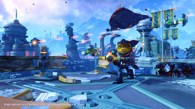 Ratchet & Clank : La version PS4 Pro s'illustre en images