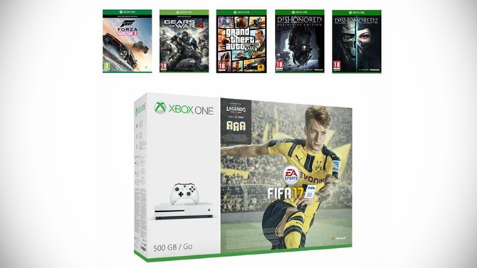 black friday une xbox one s avec 6 gros jeux prix drisoire. Black Bedroom Furniture Sets. Home Design Ideas