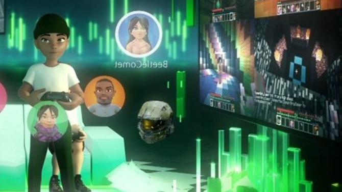 e3 2017 des jeux xbox en r alit virtuelle une image pour teaser l 39 interface xbox live en vr. Black Bedroom Furniture Sets. Home Design Ideas