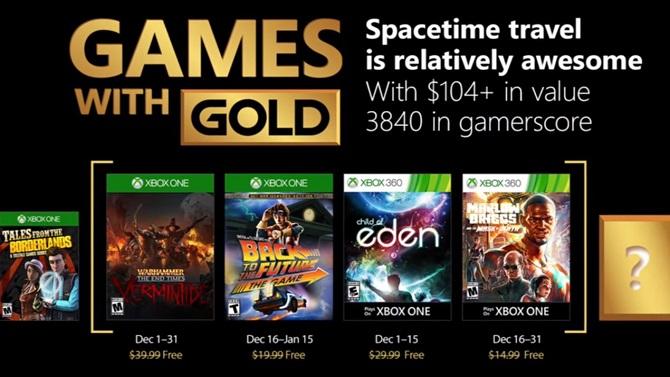 """Xbox Games with Gold : Les jeux """"gratuits"""" de décembre 2017 annoncés"""