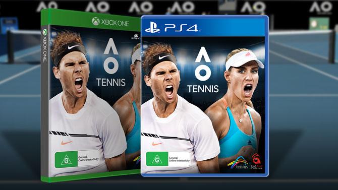 AO Tennis, le roster initial sur PS4 et Xbox One annoncé