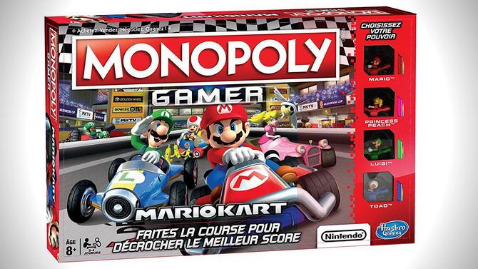 Le Monopoly Mario Kart daté en France