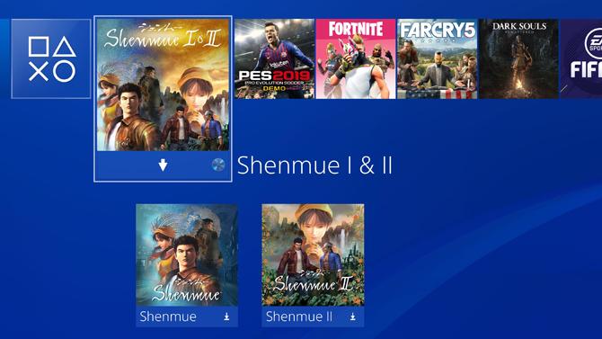 Shenmue 1 et 2 : Découvrez le poids des deux jeux sur PS4 et Xbox One