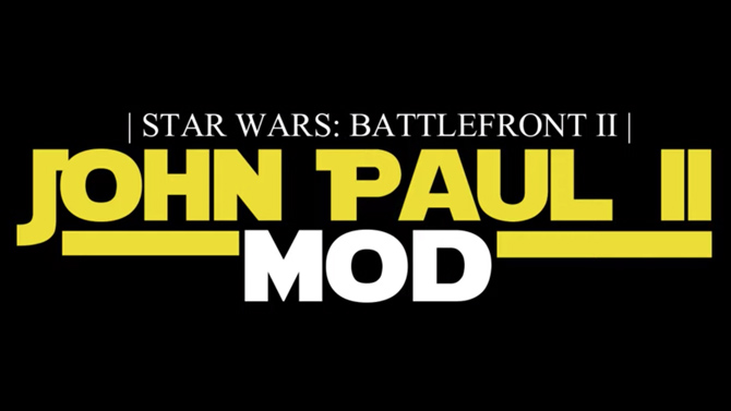 L'image du jour : Jouer avec le Pape Jean-Paul II dans Battlefront II, c'est désormais possible