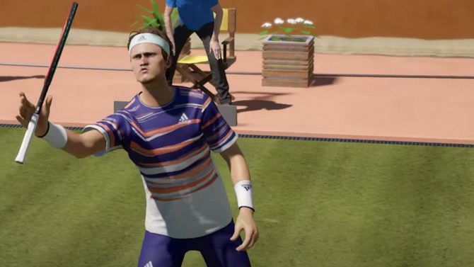 Tennis World Tour 2 monte au filet avec du gameplay