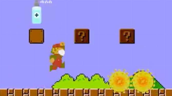 """L'image du jour : Le 1er niveau de Super Mario Bros version """"Avion Covid-19"""""""
