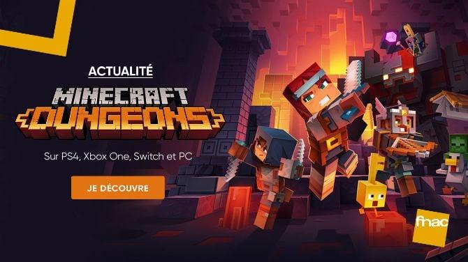 Minecraft Dungeons se joue en coop' à la Fnac !