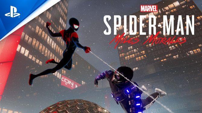 PS5-PS4 : Une tenue de Spider-Man Into the Spider-Verse dans Miles Morales, la vidéo