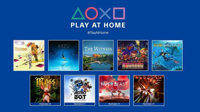 Play at Home : 10 jeux PS4 et PSVR bientôt offerts dont Horizon Zero Dawn