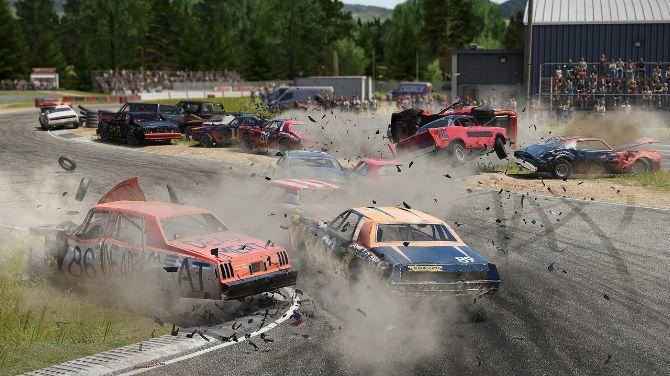 Wreckfest : Un patch permet de tout CASSER et de cross player comme un fou