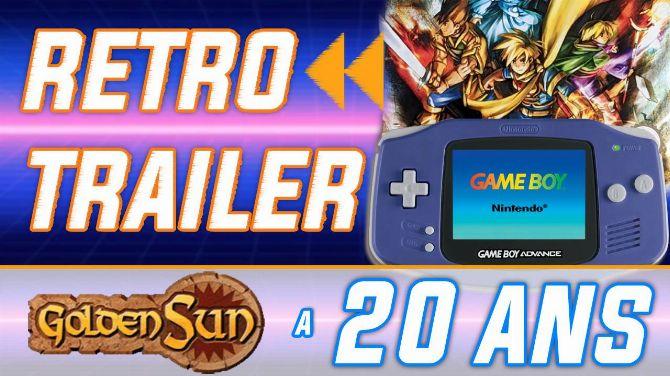 Rétro Trailer : Golden Sun a 20 ans ! Vidéo de lancement + Unboxing ASMR
