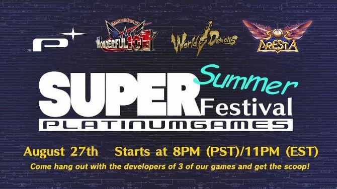 PlatinumGames annonce son SuperSummer Festival pour la fin de semaine