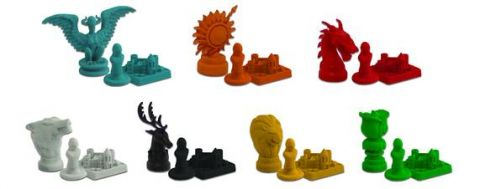 Photo des pions du Risk Game Of Thrones �dition Collector