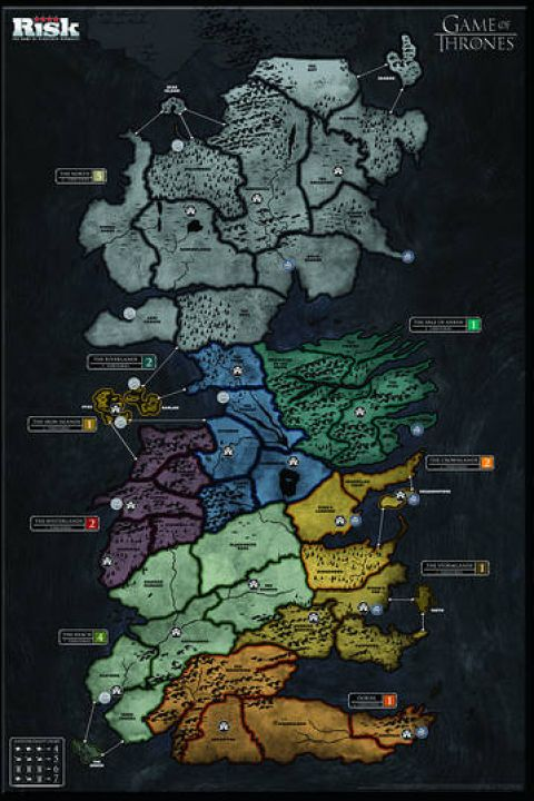 Photo d'un plateau du Risk Game Of Thrones �dition Collector