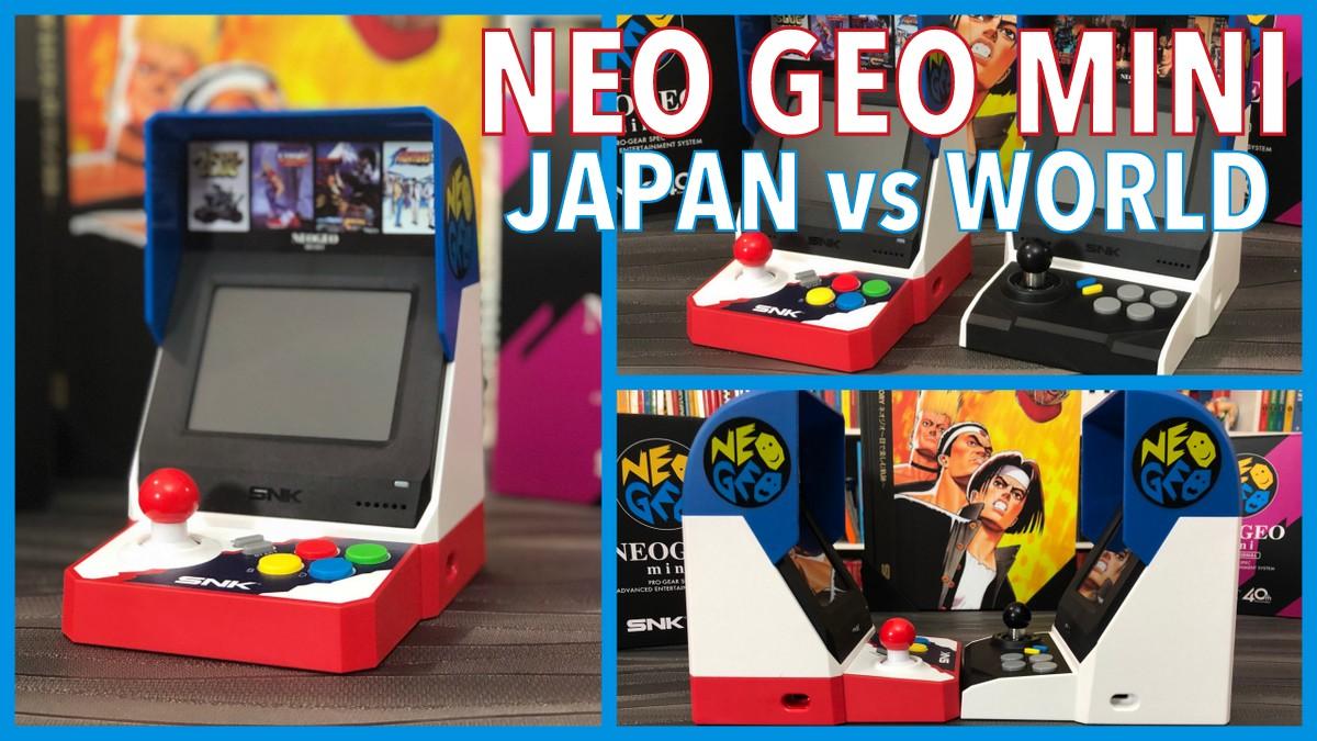 SNK NEO GEO Mini : Japan vs International !
