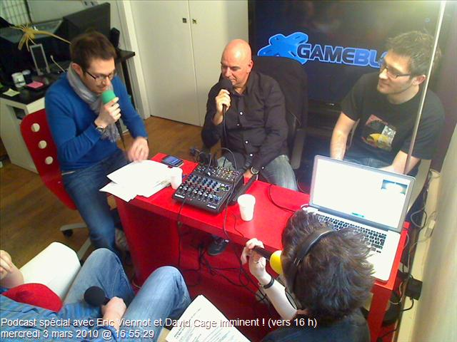 EXCLUSIF : Photos Podcast Eric Viennot David Cage Part 2
