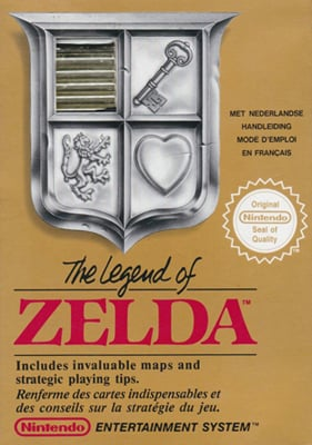 Legend Of Zelda Nes Boite