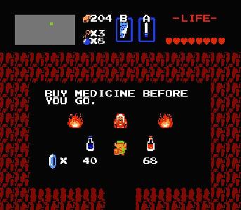 Legend Of Zelda Nes Potion