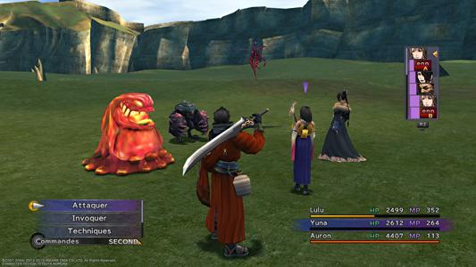 Final Fantasy X gameplay