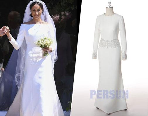 robes de mariée avec manche longue simple