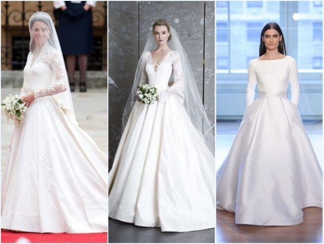 robes de mariée ligne A avec manche pour femme en forme de poire