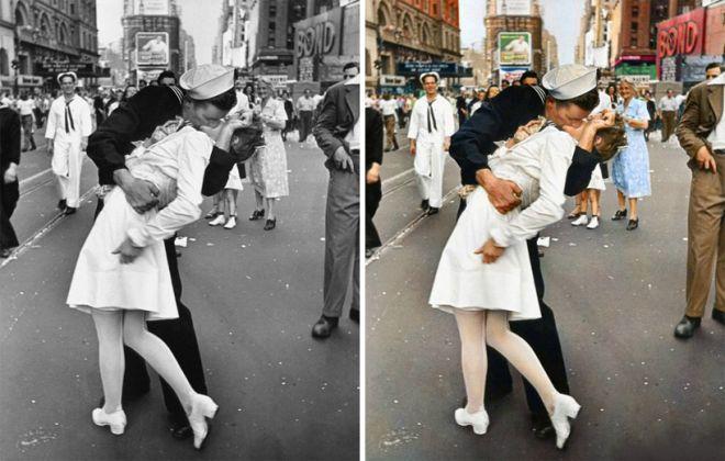 Как сделать черно белую фото из цветной