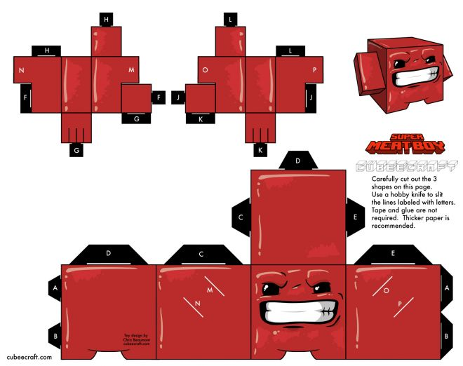 Blog Paper Toy Cubeecraft Meat