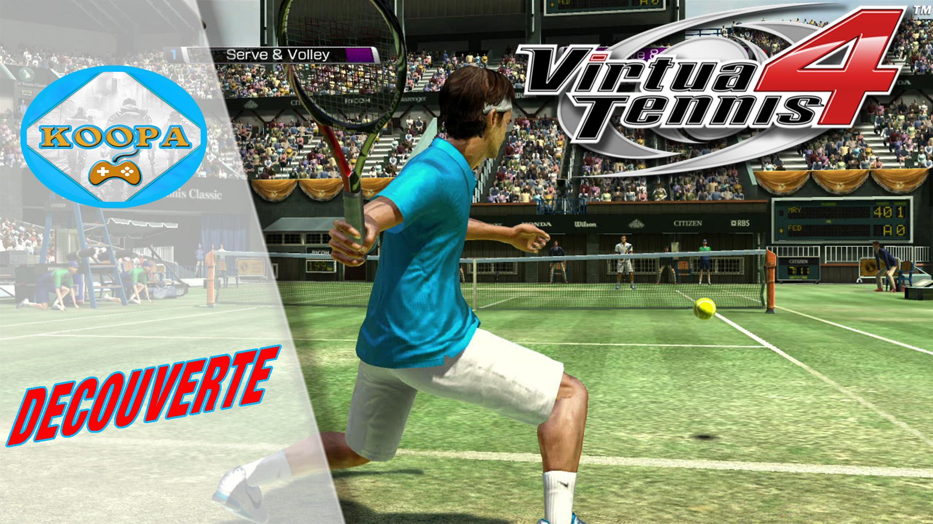 Début de carrière difficile - Virtua Tennis 4